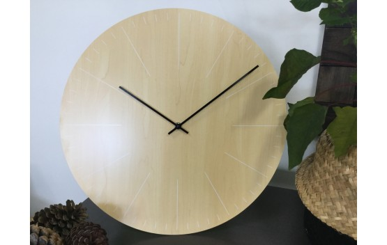 Light wood coloured Wall Clock