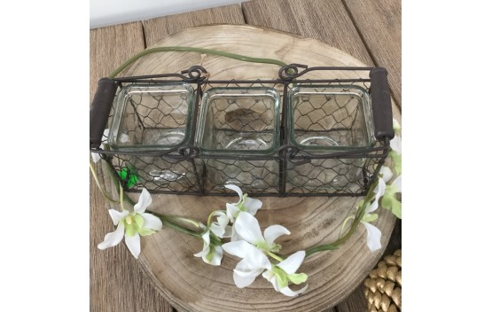 Triple tea Light Holder