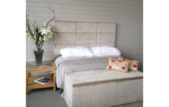 The Fine Line Modern Upholstered Head Board Queeen Size