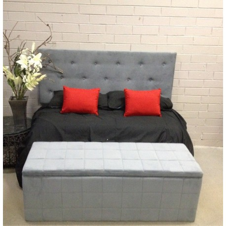 Designer Low Line Bed Head Buttoned head board