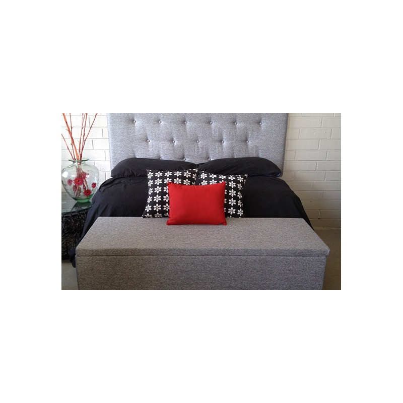 Low Line Queen Upholstered Bed Head Ash Plumindustries