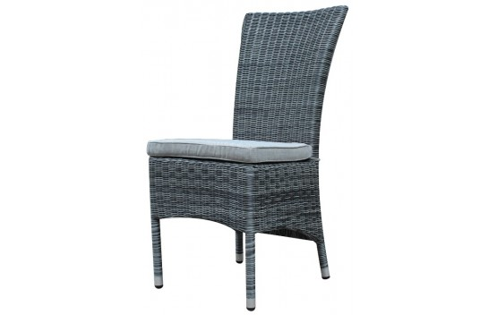Canberra High Back Outdoor Dining chair Grey