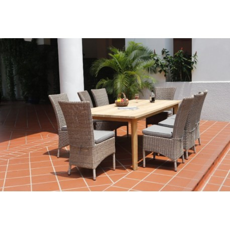 Canberra High Back with Teak Table