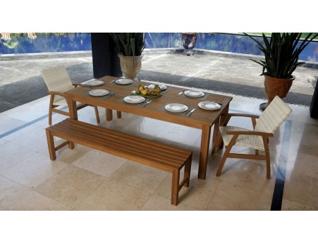The Panama 5 Pce Teak Dining with Flinders Chairs