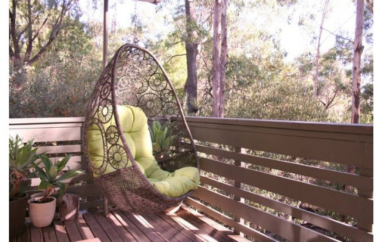 The wicker Flower Weave Egg Chair