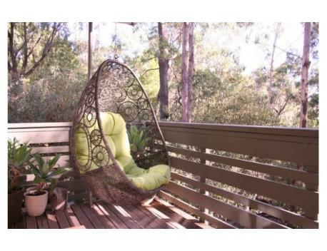The wicker Flower Weave Egg Chair
