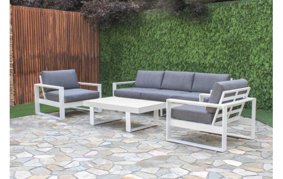 White Haven 4 Piece Aluminium Lounge