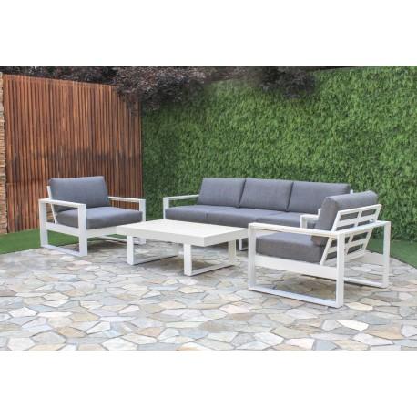 White Haven 4 Piece Aluminium Lounge