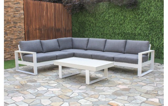 White Haven Corner Modular Aluminium Lounge