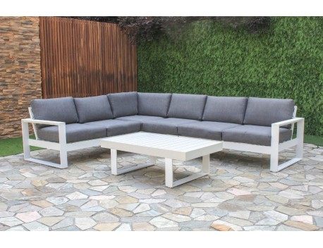 White Haven Corner Modular Aluminium Lounge