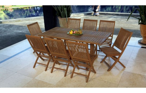 Teak Foldable Dining setting