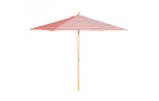 Monte Carlo - 3m diameter red and white stripe umbrella