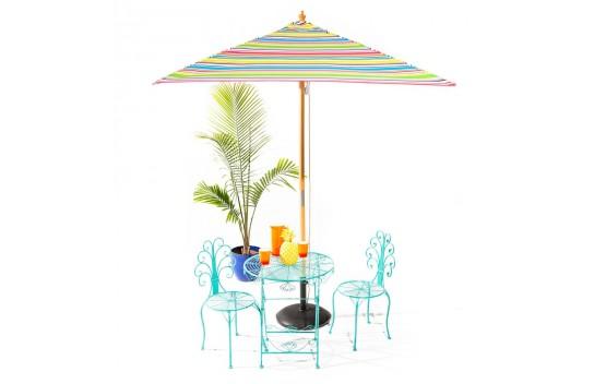 Billy Fresh Signature - 2m square multicolour stripe umbrella