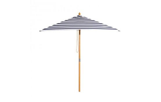 St. Tropez - 2m diameter square blue and white stripe umbrella