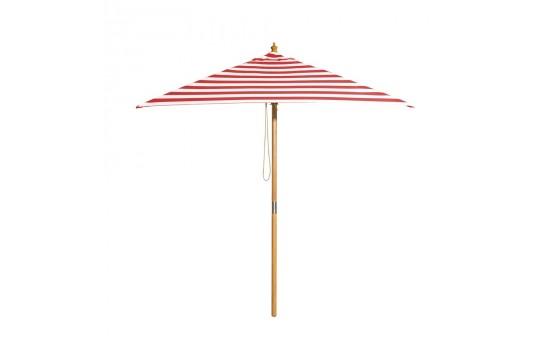 Monte Carlo - 2m square red and white stripe umbrella