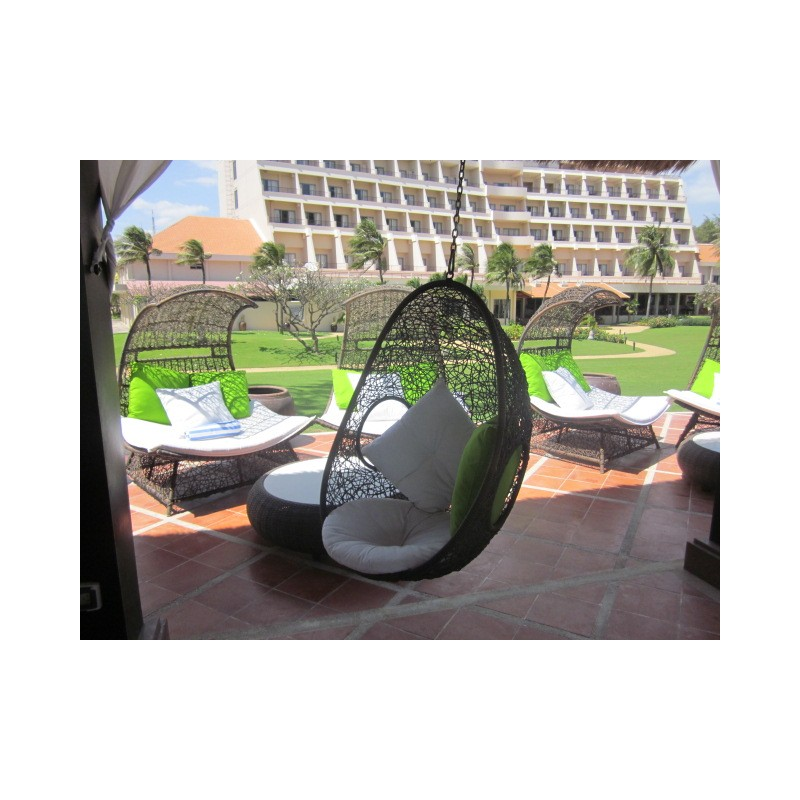 Wicker Outdoor Hanging Egg Pod Chair Vp, Hanging Egg Chair Outdoor No Stand