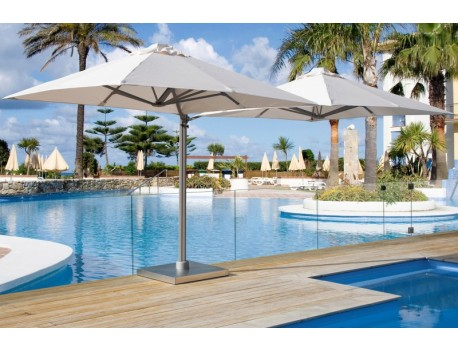 SU6 Multi Mast Cantilever Umbrella 2.5 meter Square with Surface plate